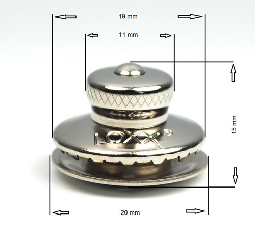 German Tenax (LOXX) fastener, nickel plated