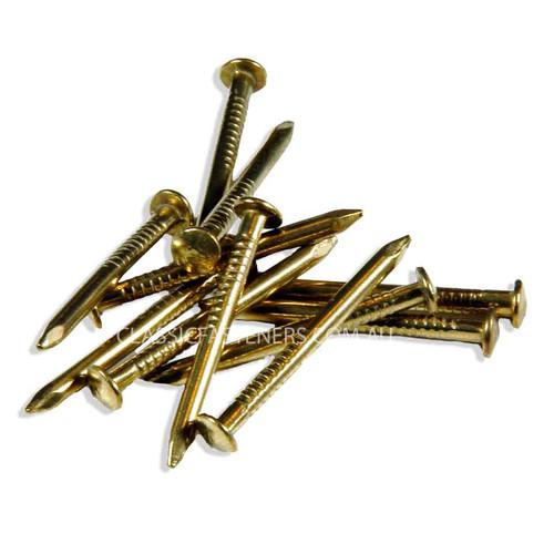 Brass Escutcheon Pins 14G x 1