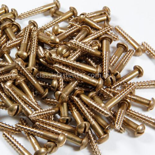 Silicon Bronze Round Head Slot Wood Screw