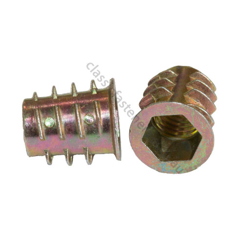Furniture Hex Drive Insert Nut M4 x 10mm
