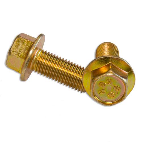 Flanged Bolt Yellow Zinc : M10 Fine (1.25) x 25mm