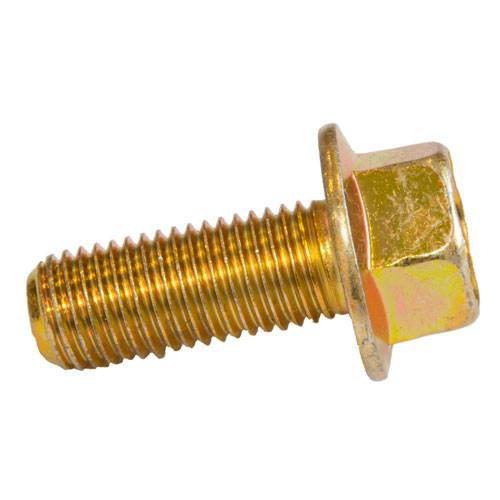 M10 Fine (1.25) x 30mm Flanged Bolt Yellow Zinc Non-Serrated Class 8.8