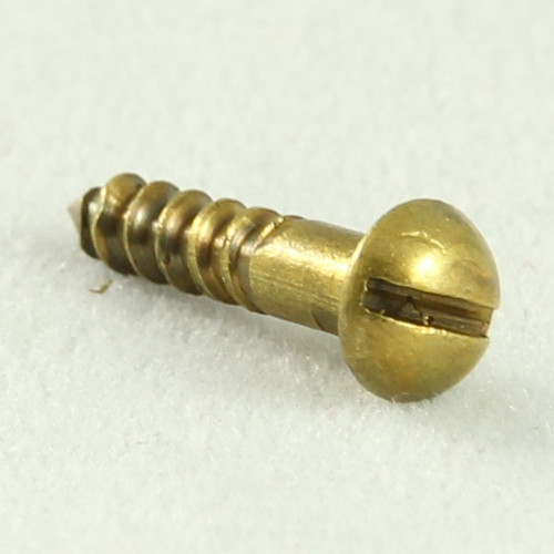 Wood Screw Round Head Brass