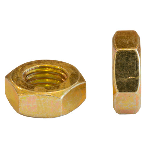 Lock Nut 5/16 -24tpi UNF Yellow Zinc
