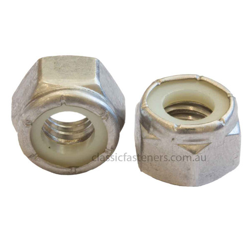 1/4 UNC Nylon Insert Lock Nut Stainless 316