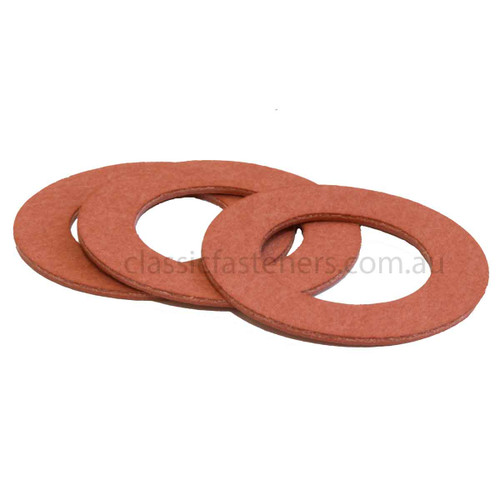 "Red fibre washer 1/2"" x 7/8"" x 1/32"""