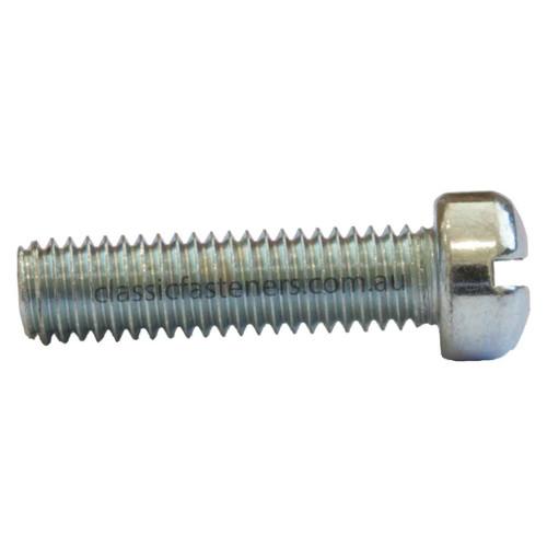 10-32 x 3/4 Fillister Slot Zinc