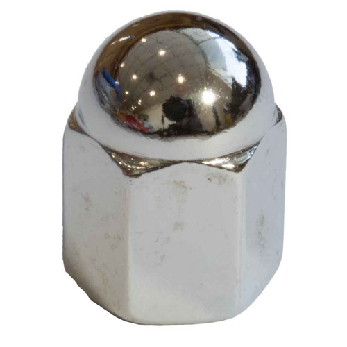 JAG Cam Cover Dome Nut 1/4 UNF Chrome