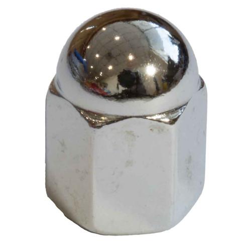 JAG Cam Cover Dome Nut 1/4 UNF Chrome