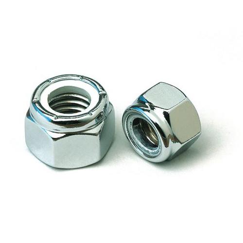 1/4 - 28 UNF Chrome Nylon Insert Lock Nut