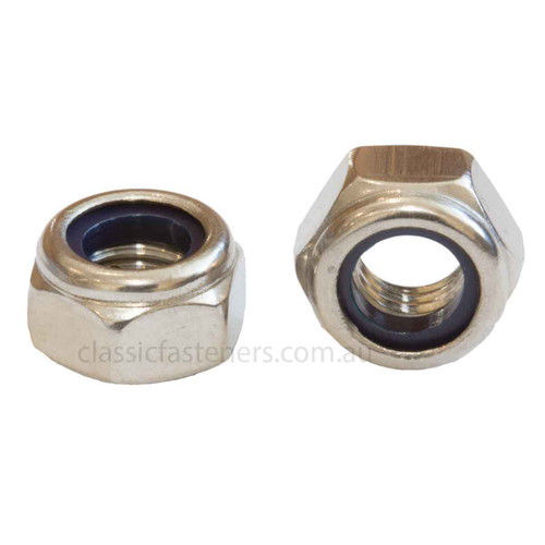 M8 (1.25mm) Nylon Insert Lock Nut Stainless (316) Qty: 100