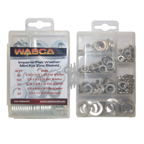 Imperial Flat Washer - Mini Kit Zinc Plated