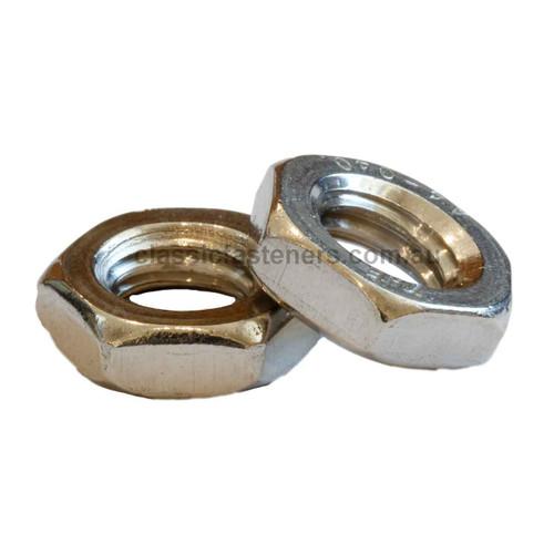 M8 (1.25) Half Nut (Lock Nut) Stainless 316