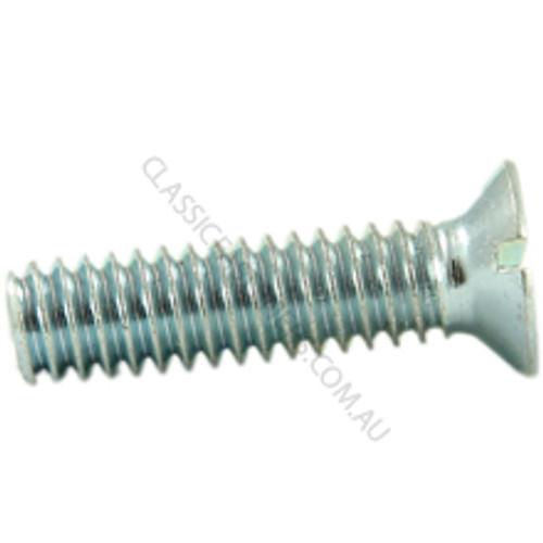 Countersunk head, steel, zinc, slot, 1/4 BSW