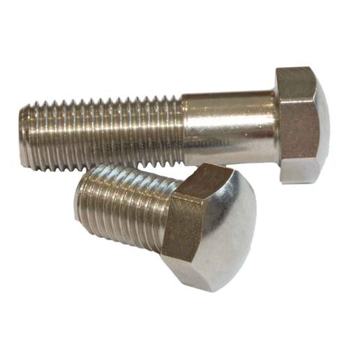 M10 (1.25) FINE x 35mm Domed Bolt 14mm AF Stainless 304