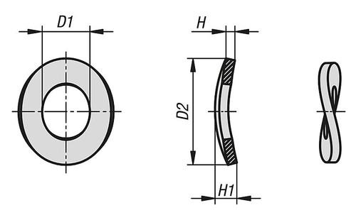 M10 Wave Spring Washer DIN137B - Plain : Qty 10