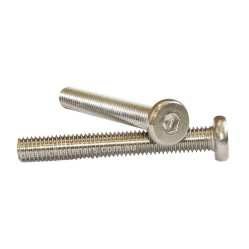 M8 x 30mm Furniture Connector Bolt Nickel Plated