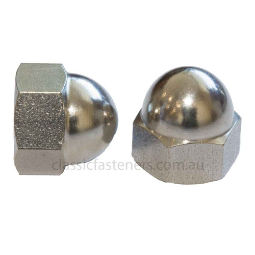 """Dome Nut Stainless 1/4"""" BSF"""