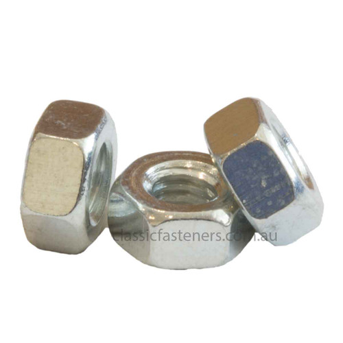 2BA Steel Hex Nut Zinc