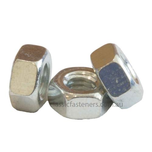 3BA Steel Hex Nut Zinc