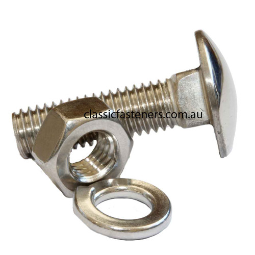 """Cup Head Bolt 10-32 UNF x 5/8"""" Polished Stainless"""