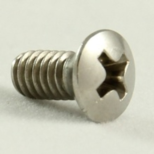 Oval head metal threadRaised Phillips Stainless: 8-32 UNC x 3/8