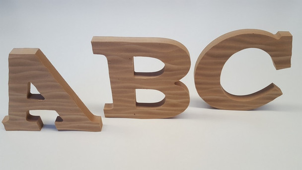 Textured MDF Letters