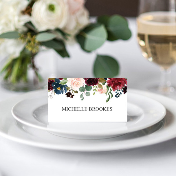 Acrylic Wedding Name Cards - Full Colour