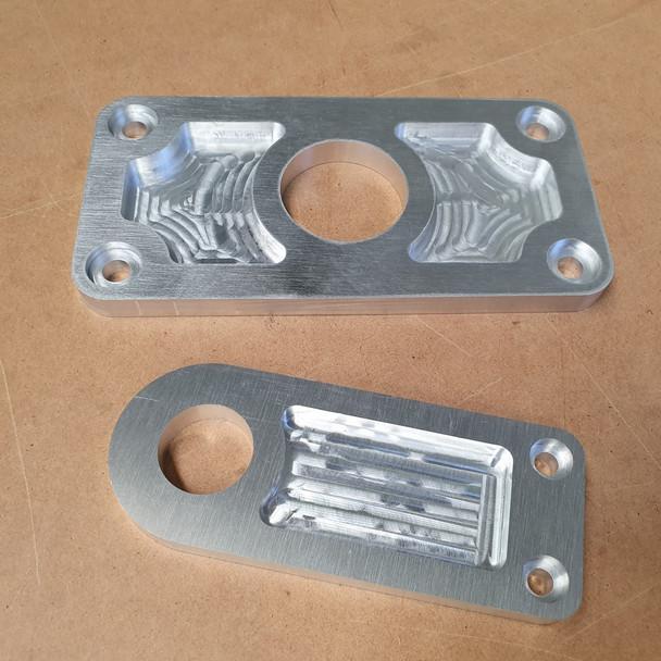 CNC Route 12mm Aluminium with Recesses