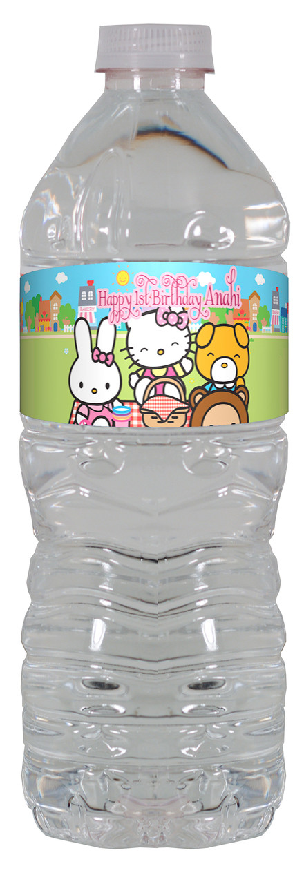 20 HELLO KITTY BIRTHDAY PARTY Water Bottle Labels Personalized