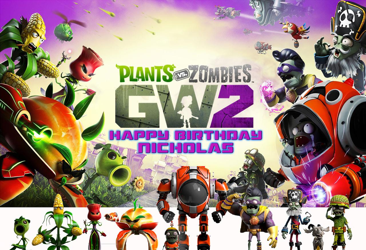 Plants Vs Zombies Garden Warfare 2 Personalized Poster