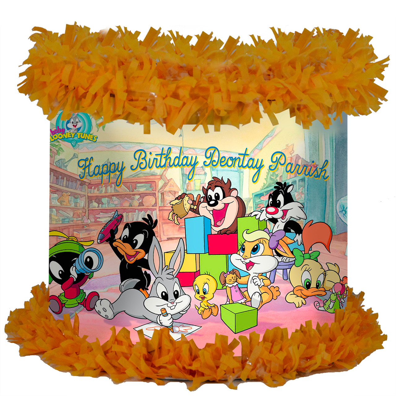 Baby Looney Tunes Personalized Pinata Worldofpinatas Com