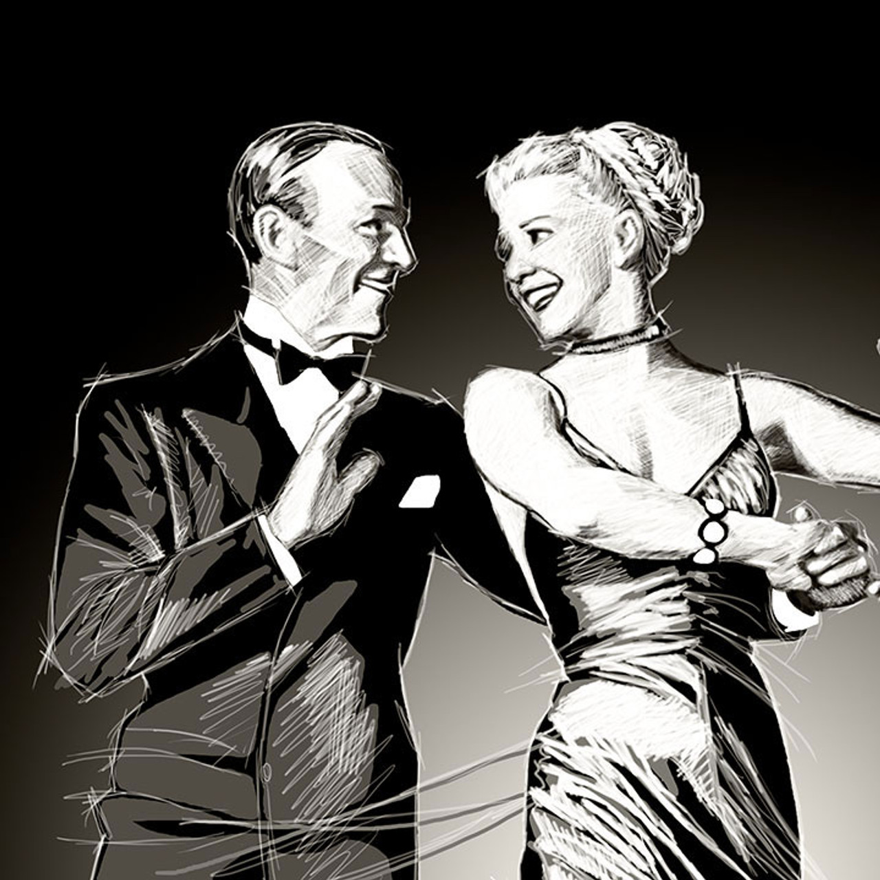 Fred Astaire And Ginger Rogers Odyssey Art