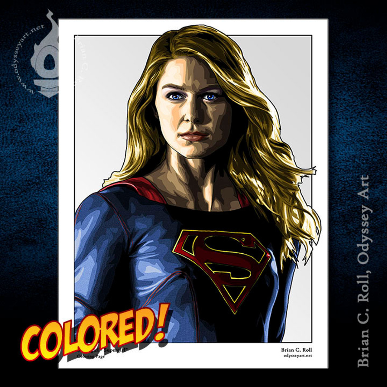 Supergirl Coloring Page Odyssey Art Art Of Brian C Roll