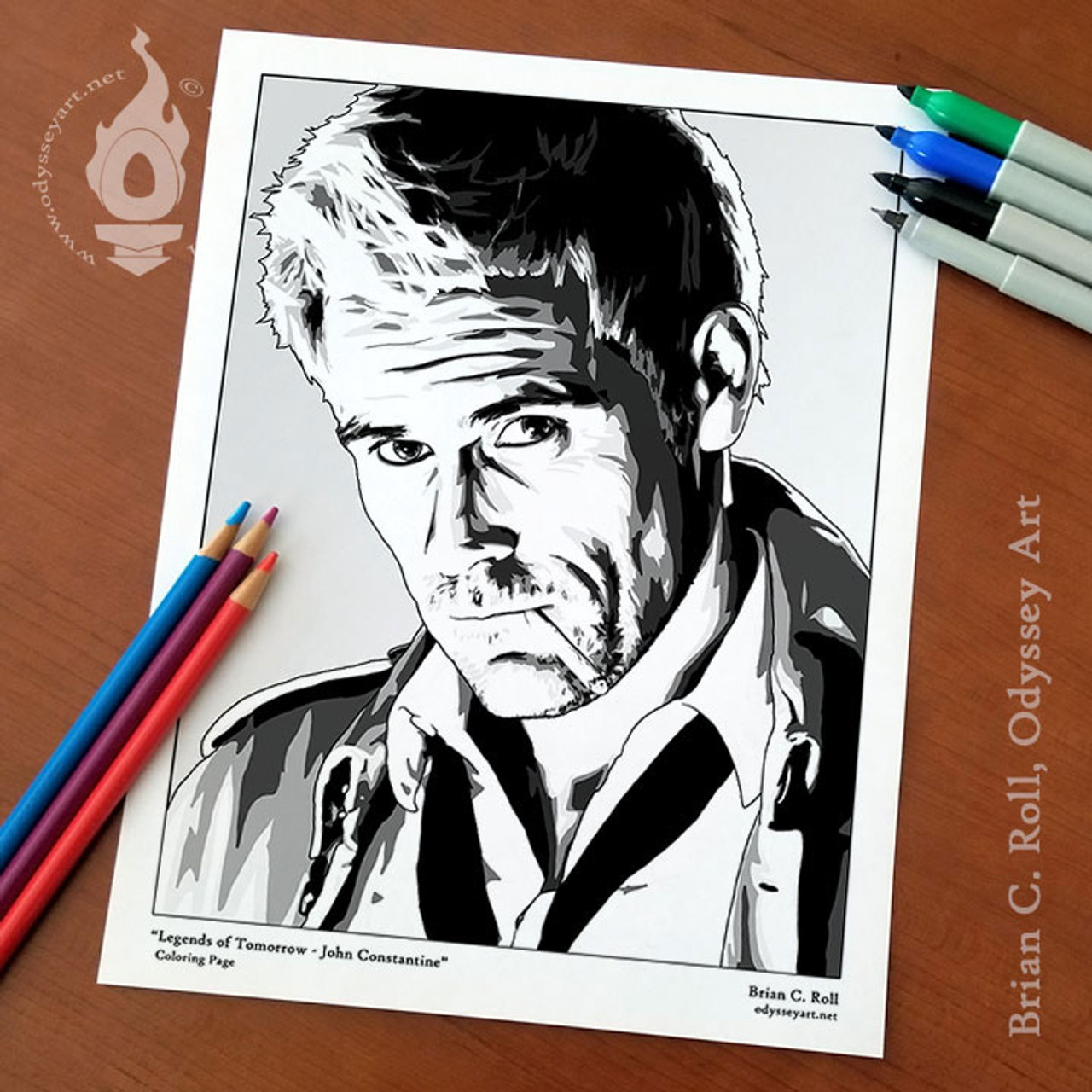 Constantine Coloring Page Odyssey Art Art Of Brian C Roll