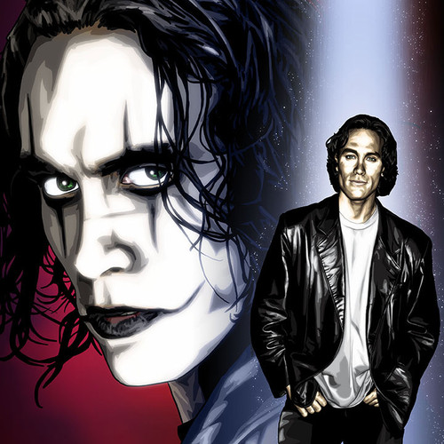 "Brandon Lee and The Crow art print 8.5""x11"", Brian C. Roll, Odyssey Art, thbnail"