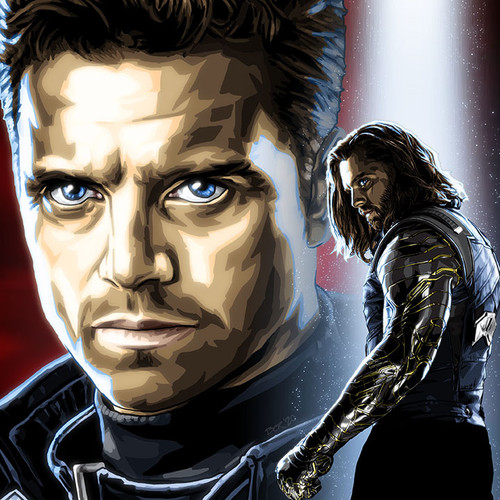 "Bucky Barnes Winter Soldier Limited Edition Art Print 8.5""x11"" and 11""x17"" Limited Artist Proof by Odyssey Art, thbnail."