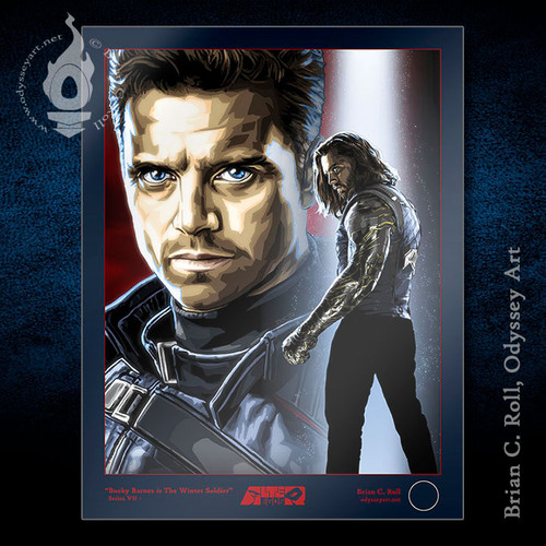"Bucky Barnes Winter Soldier Limited Edition Art Print 8.5""x11"" and 11""x17"" Limited Artist Proof by Odyssey Art."