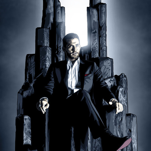 """Lucifer Art Print -Lord of Hell in 11""""x20"""" by Brian C. Roll, Odyssey Art, thbnail."""
