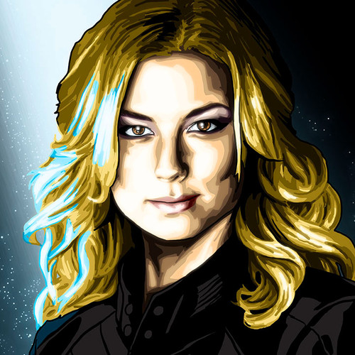 "Sharon Carter, Emily Van Camp, Captain America 8.5""x11"" art print by Brian C. Roll, Odyssey Art, thbnail"