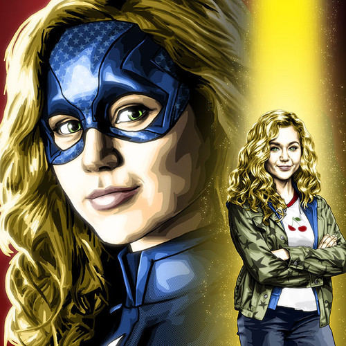 Brec Bassinger portrays Courtney Whitmore and Stargirl in this art print by Brian C. Roll, Odyssey Art, thbnail