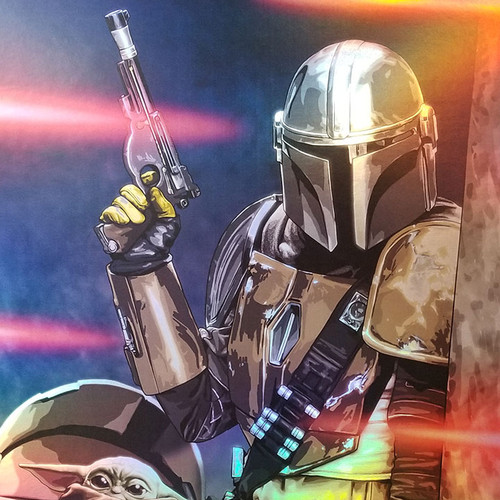"""Star Wars: The Mandalorian """"Protect the Child"""" 11x17 limited edition wall art by Brian C. Roll, Odyssey Art, thbnail"""