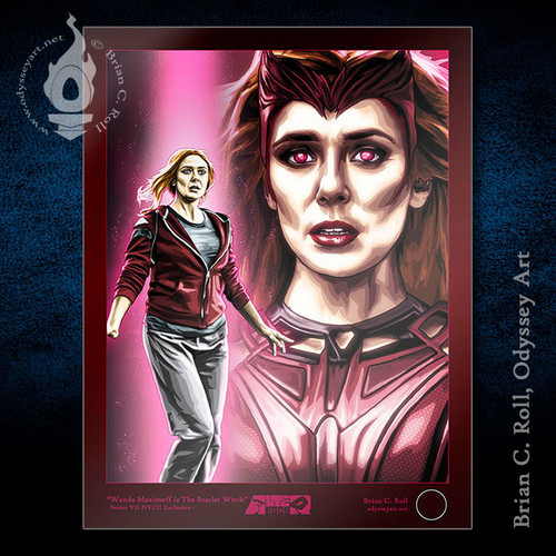 """The Scarlet Witch 11""""x17"""" art print from Alter-Egos Series VII, by Brian C Roll"""