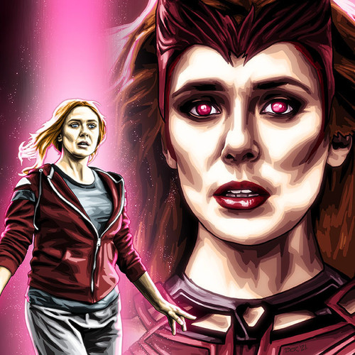 """The Scarlet Witch 11""""x17"""" art print from Alter-Egos Series VII, by Brian C Roll, thbnail"""