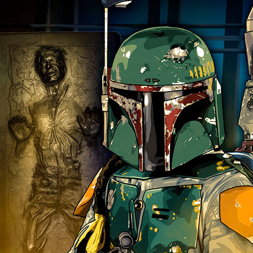 Boba Fett, He's No Good to me Dead, Han Solo, Carbonite, Brian C. Roll, Odyssey Art, thbnail