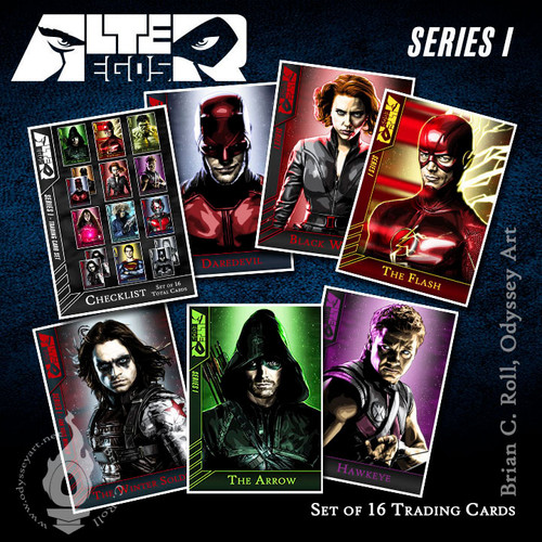 Alter-Egos Series I: Trading Card Set, Brian C. Roll, Odyssey Art