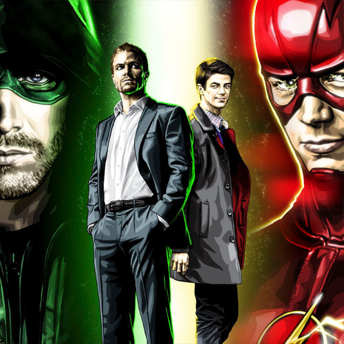 Green Arrow, Flash, Stephen Amell, Grant Gustin, Oliver Queen, Barry Allen, Brian C. Roll, Odyssey Art, thbnail