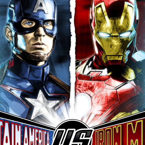 Captain America, Iron Man, Chris Evans, Robert Downey Jr., Brian C. Roll, Odyssey Art, thbnail