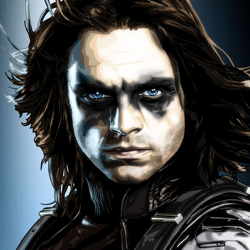 Winter Soldier Large Print, Sebastian Stan, Captain America, Brian C. Roll, Odyssey Art, thbnail