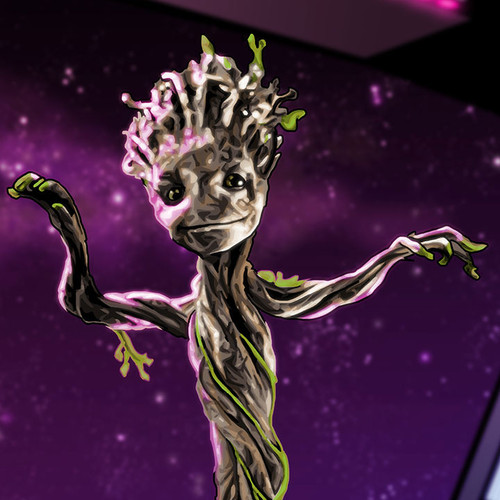 Baby Groot, Groot, Guardians of the Galaxy, Brian C. Roll, Odyssey Art, thbnail